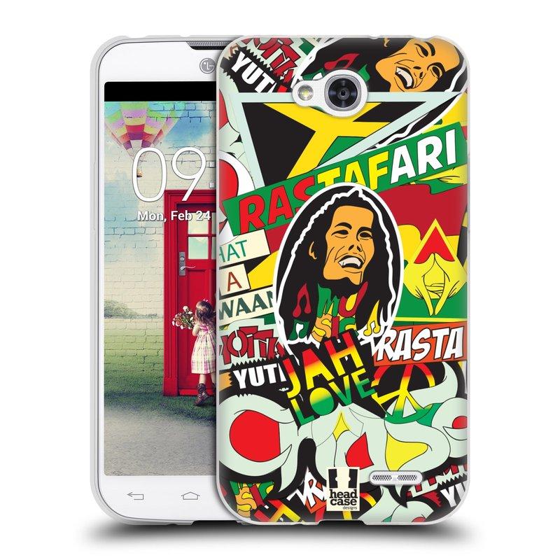 Silikonové pouzdro na mobil LG L90 HEAD CASE RASTA (Silikonový kryt či obal na mobilní telefon LG L90 D405n)
