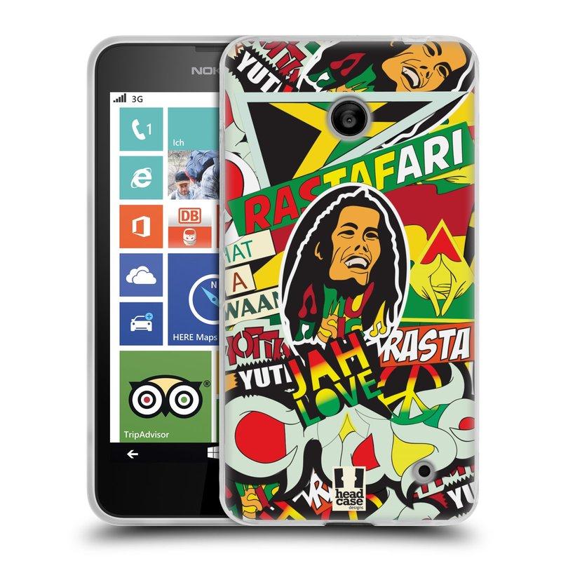 Silikonové pouzdro na mobil Nokia Lumia 630 HEAD CASE RASTA (Silikonový kryt či obal na mobilní telefon Nokia Lumia 630 a Nokia Lumia 630 Dual SIM)