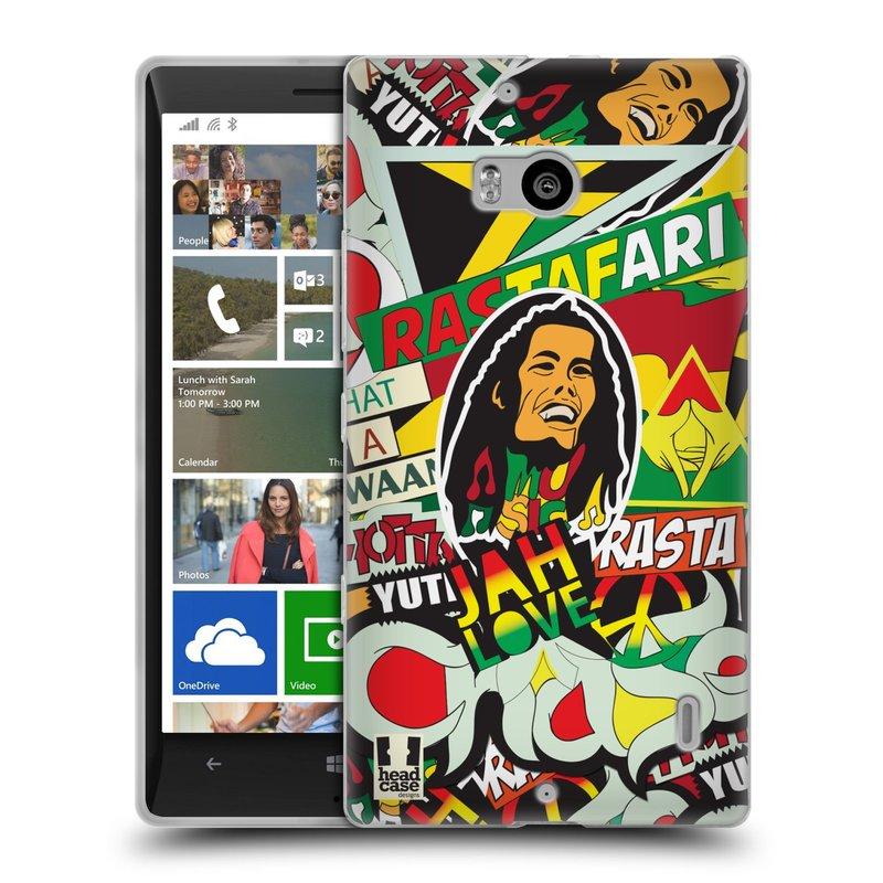 Silikonové pouzdro na mobil Nokia Lumia 930 HEAD CASE RASTA (Silikonový kryt či obal na mobilní telefon Nokia Lumia 930)