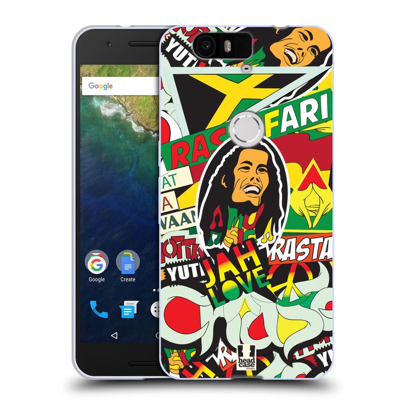Silikonové pouzdro na mobil Huawei Nexus 6P HEAD CASE RASTA (Silikonový kryt či obal na mobilní telefon Huawei Nexus 6P)