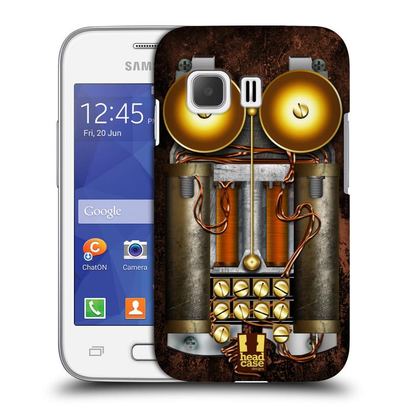 Plastové pouzdro na mobil Samsung Galaxy Young 2 HEAD CASE STEAMPUNK TELEFON (Kryt či obal na mobilní telefon Samsung Galaxy Young 2 SM-G130)