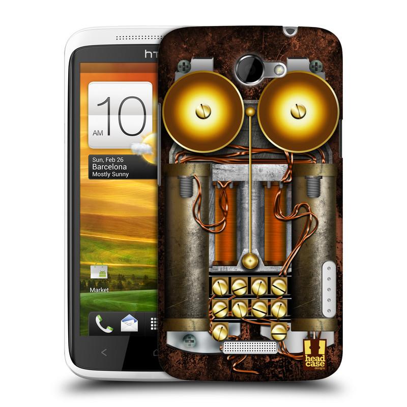 Plastové pouzdro na mobil HTC ONE X HEAD CASE STEAMPUNK TELEFON (Kryt či obal na mobilní telefon HTC ONE X)
