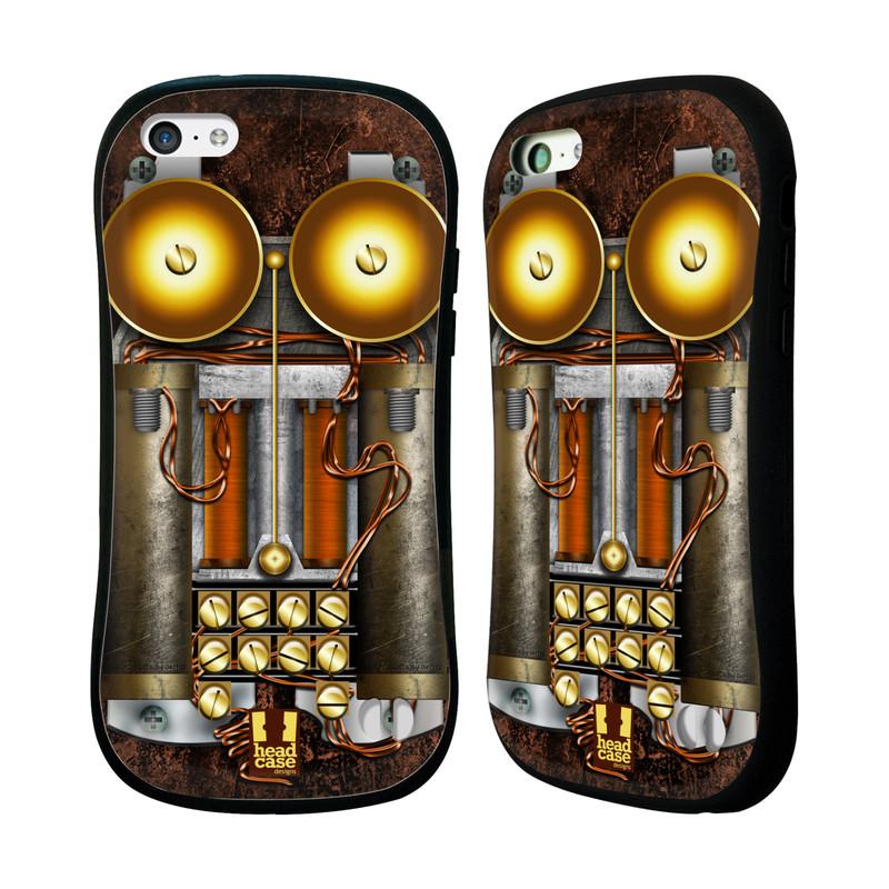 Nárazuvzdorné pouzdro na mobil Apple iPhone 5C HEAD CASE STEAMPUNK TELEFON (Odolný nárazuvzdorný silikonový kryt či obal na mobilní telefon Apple iPhone 5C)