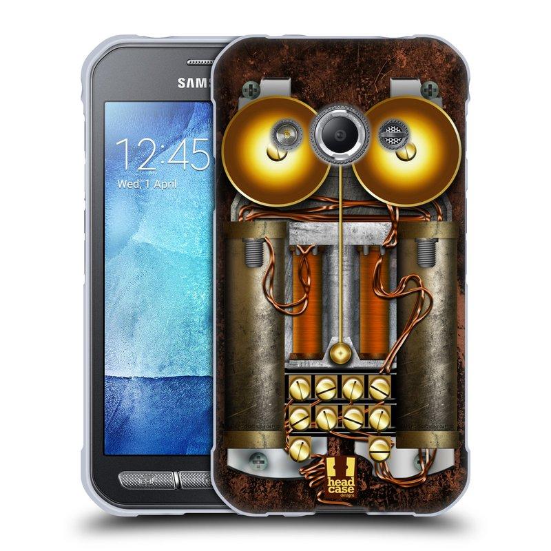 Silikonové pouzdro na mobil Samsung Galaxy Xcover 3 HEAD CASE STEAMPUNK TELEFON (Silikonový kryt či obal na mobilní telefon Samsung Galaxy Xcover 3 SM-G388F)