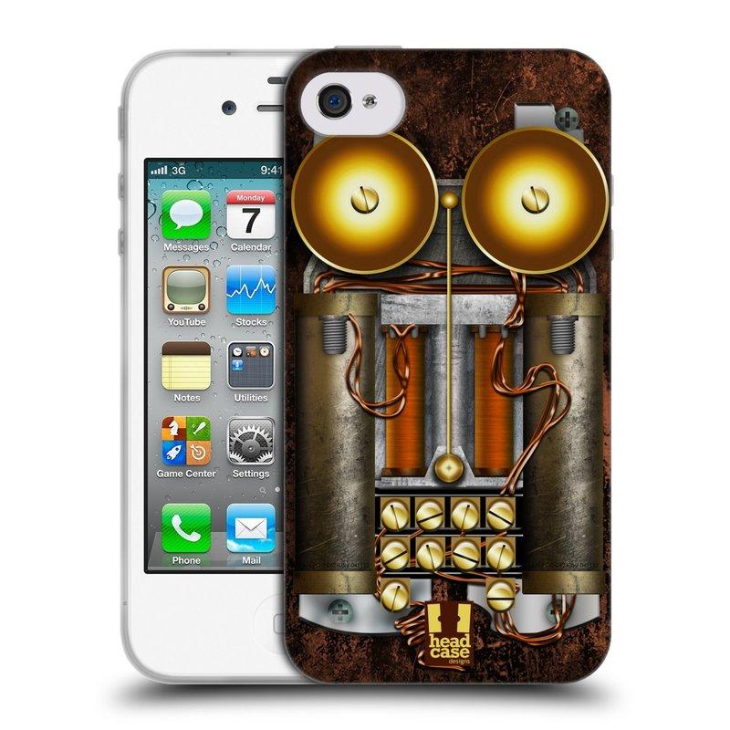 Silikonové pouzdro na mobil Apple iPhone 4 a 4S HEAD CASE STEAMPUNK TELEFON (Silikonový kryt či obal na mobilní telefon Apple iPhone 4 a 4S)