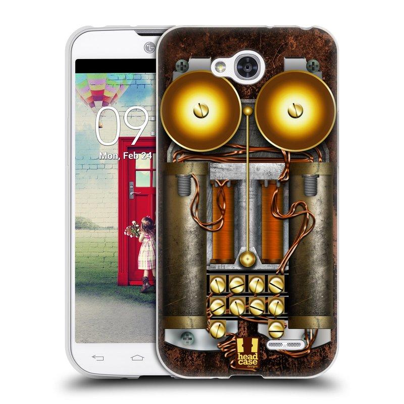 Silikonové pouzdro na mobil LG L90 HEAD CASE STEAMPUNK TELEFON (Silikonový kryt či obal na mobilní telefon LG L90 D405n)