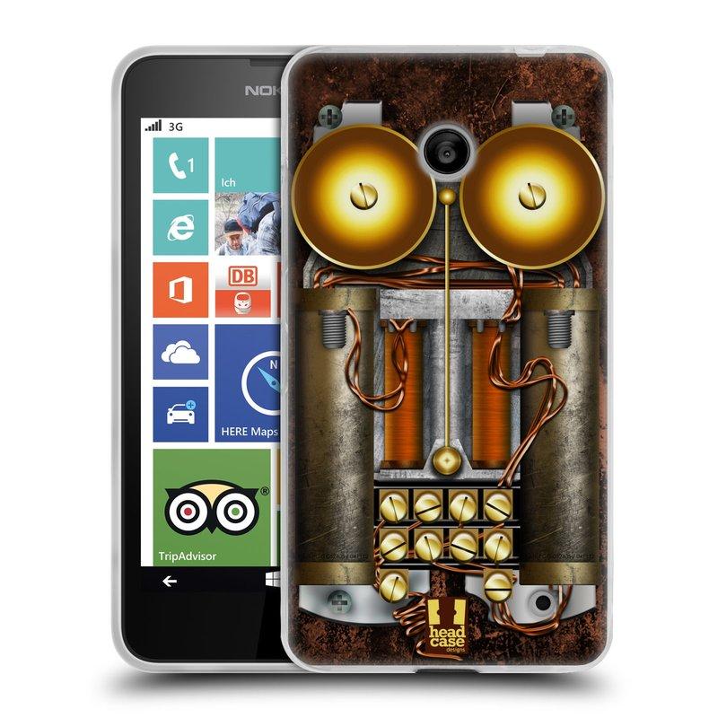 Silikonové pouzdro na mobil Nokia Lumia 630 HEAD CASE STEAMPUNK TELEFON (Silikonový kryt či obal na mobilní telefon Nokia Lumia 630 a Nokia Lumia 630 Dual SIM)