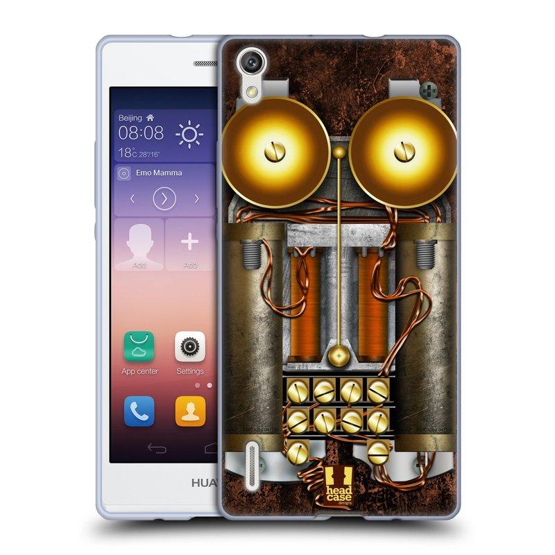 Silikonové pouzdro na mobil Huawei P7 HEAD CASE STEAMPUNK TELEFON (Silikonový kryt či obal na mobilní telefon Huawei Ascend P7)