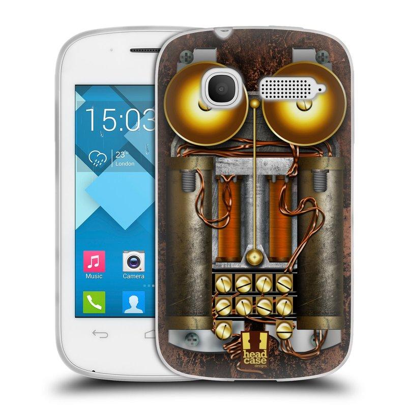 Silikonové pouzdro na mobil Alcatel One Touch Pop C1 HEAD CASE STEAMPUNK TELEFON (Silikonový kryt či obal na mobilní telefon Alcatel OT-4015D POP C1)