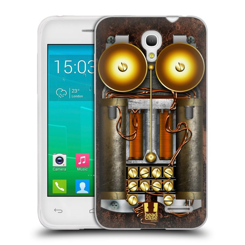 Silikonové pouzdro na mobil Alcatel One Touch Pop S3 HEAD CASE STEAMPUNK TELEFON (Silikonový kryt či obal na mobilní telefon Alcatel OT- 5050Y POP S3)