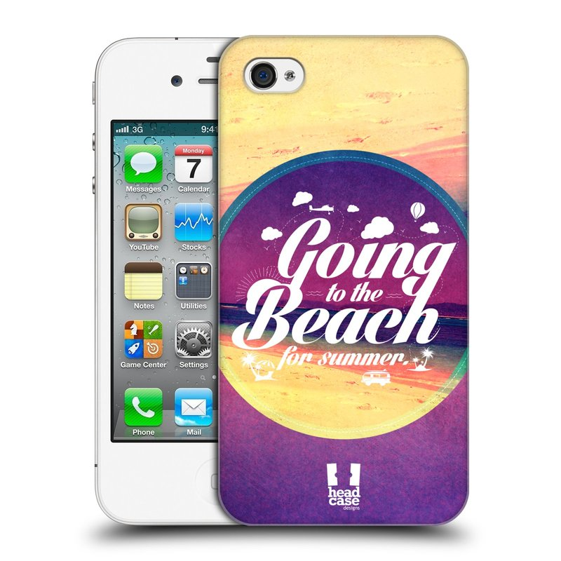 Plastové pouzdro na mobil Apple iPhone 4 a 4S HEAD CASE Léto na pláži (Kryt či obal na mobilní telefon Apple iPhone 4 a 4S)