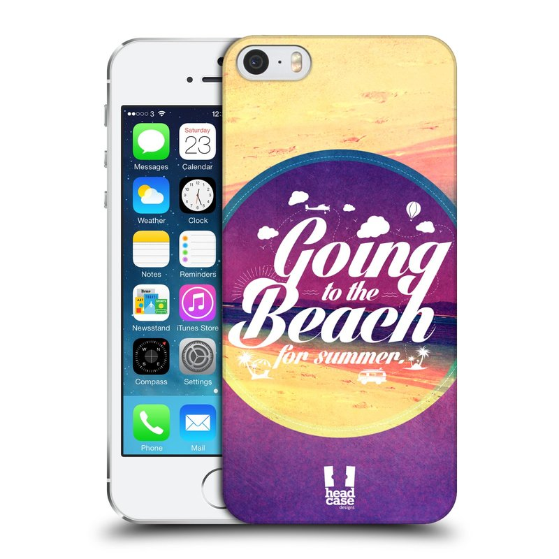 Plastové pouzdro na mobil Apple iPhone SE, 5 a 5S HEAD CASE Léto na pláži (Kryt či obal na mobilní telefon Apple iPhone SE, 5 a 5S)