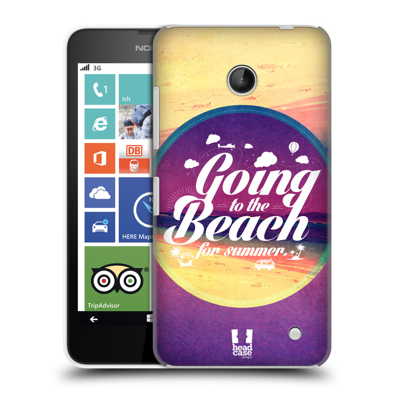 Plastové pouzdro na mobil Nokia Lumia 630 HEAD CASE Léto na pláži (Kryt či obal na mobilní telefon Nokia Lumia 630 a Nokia Lumia 630 Dual SIM)
