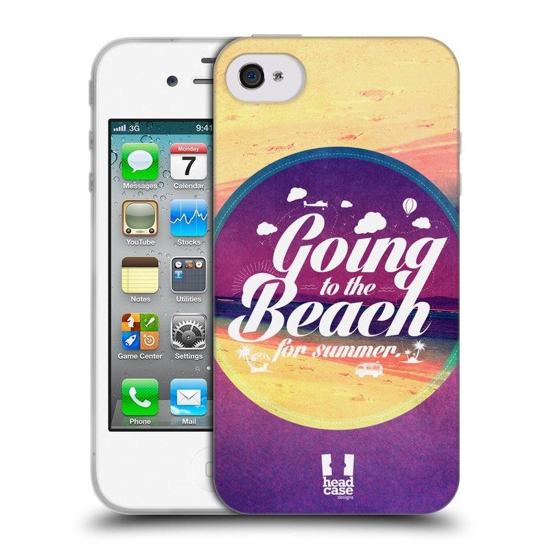 Silikonové pouzdro na mobil Apple iPhone 4 a 4S HEAD CASE Léto na pláži (Silikonový kryt či obal na mobilní telefon Apple iPhone 4 a 4S)