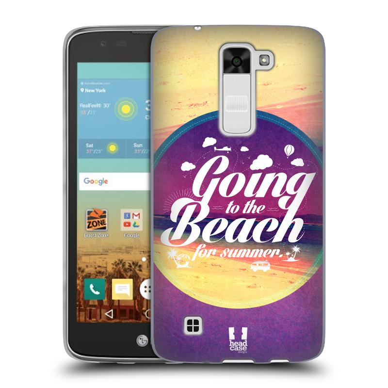 Silikonové pouzdro na mobil LG K7 HEAD CASE Léto na pláži (Silikonový kryt či obal na mobilní telefon LG K7)