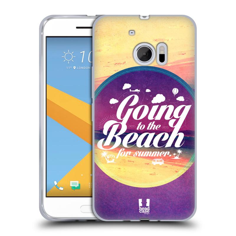 Silikonové pouzdro na mobil HTC 10 HEAD CASE Léto na pláži (Silikonový kryt či obal na mobilní telefon HTC 10 (HTC One M10))