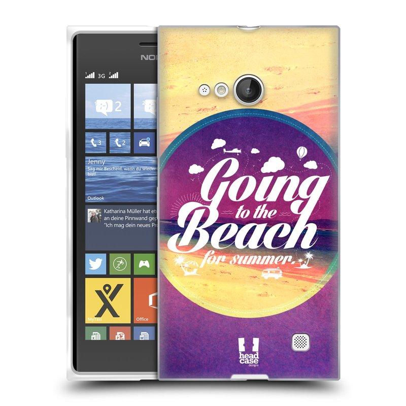 Silikonové pouzdro na mobil Nokia Lumia 730 Dual SIM HEAD CASE Léto na pláži (Silikonový kryt či obal na mobilní telefon Nokia Lumia 730 Dual SIM)