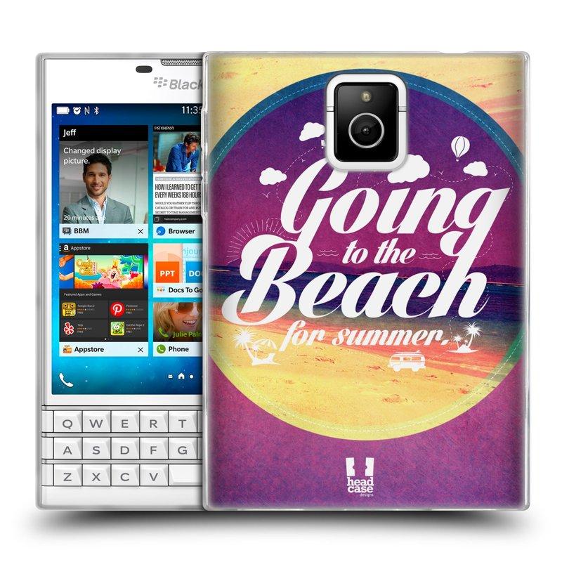 Silikonové pouzdro na mobil Blackberry PASSPORT HEAD CASE Léto na pláži (Silikonový kryt či obal na mobilní telefon Blackberry PASSPORT)