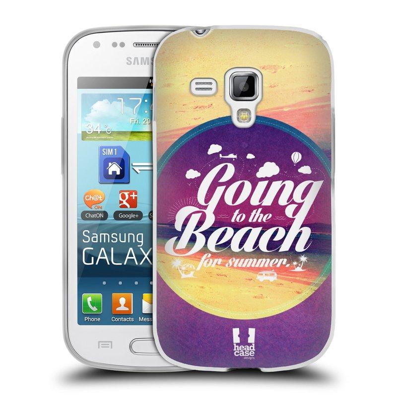 Silikonové pouzdro na mobil Samsung Galaxy Trend Plus HEAD CASE Léto na pláži (Silikonový kryt či obal na mobilní telefon Samsung Galaxy Trend Plus GT-S7580)