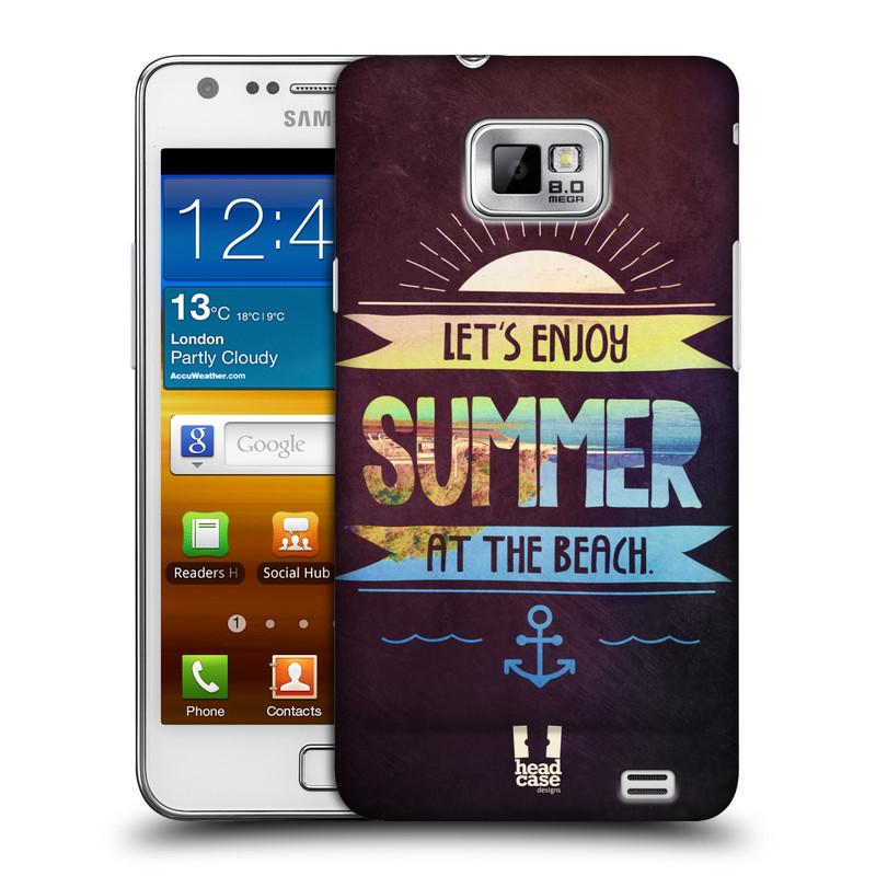 Plastové pouzdro na mobil Samsung Galaxy S II HEAD CASE Užij si léto na pláži (Kryt či obal na mobilní telefon Samsung Galaxy S II GT-i9100)