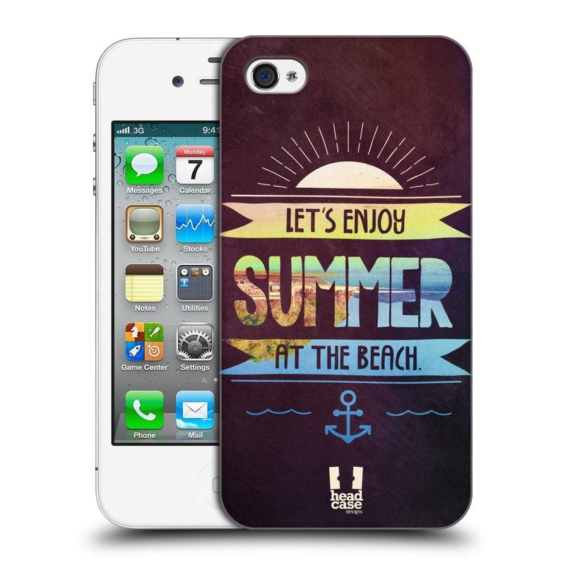 Plastové pouzdro na mobil Apple iPhone 4 a 4S HEAD CASE Užij si léto na pláži (Kryt či obal na mobilní telefon Apple iPhone 4 a 4S)
