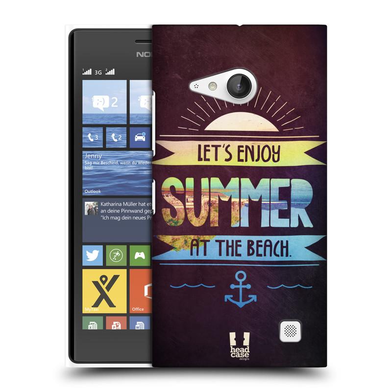 Plastové pouzdro na mobil Nokia Lumia 730 Dual SIM HEAD CASE Užij si léto na pláži (Kryt či obal na mobilní telefon Nokia Lumia 730 Dual SIM)