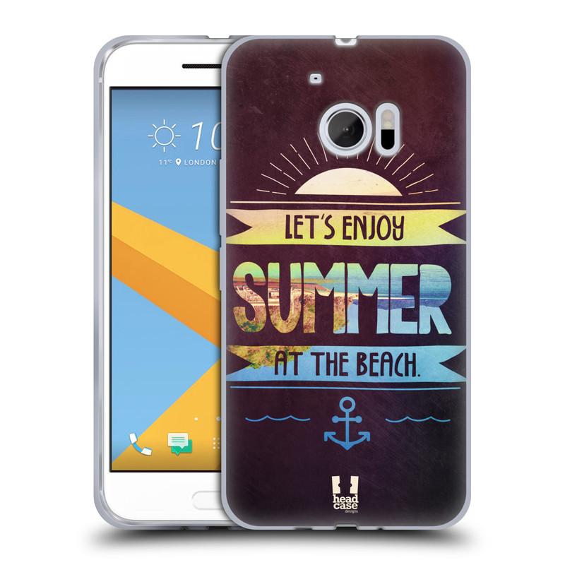 Silikonové pouzdro na mobil HTC 10 HEAD CASE Užij si léto na pláži (Silikonový kryt či obal na mobilní telefon HTC 10 (HTC One M10))