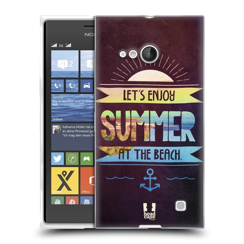 Silikonové pouzdro na mobil Nokia Lumia 730 Dual SIM HEAD CASE Užij si léto na pláži (Silikonový kryt či obal na mobilní telefon Nokia Lumia 730 Dual SIM)