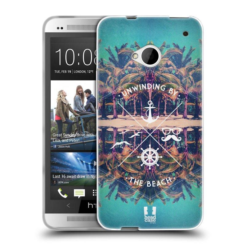 Silikonové pouzdro na mobil HTC ONE M7 HEAD CASE Bezvětří (Silikonový kryt či obal na mobilní telefon HTC ONE M7)