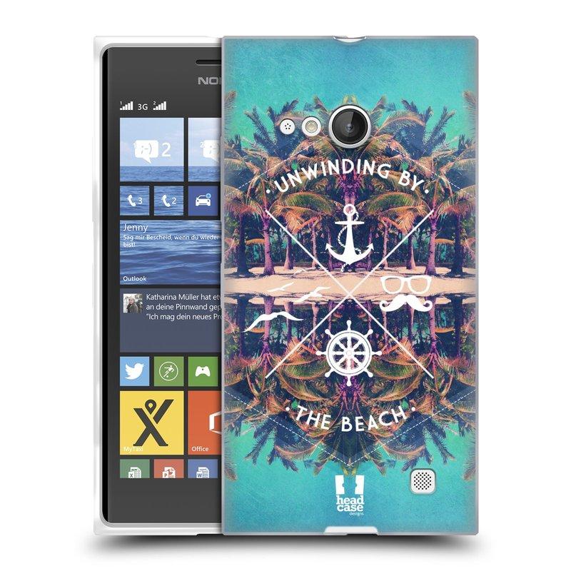 Silikonové pouzdro na mobil Nokia Lumia 735 HEAD CASE Bezvětří (Silikonový kryt či obal na mobilní telefon Nokia Lumia 735)