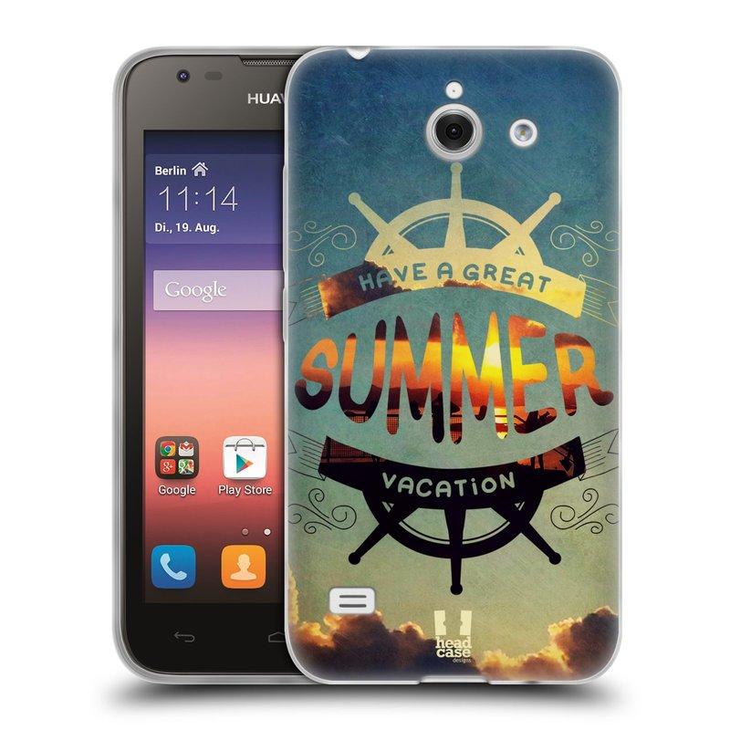 Silikonové pouzdro na mobil Huawei Ascend Y550 HEAD CASE Letní prázdniny (Silikonový kryt či obal na mobilní telefon Huawei Ascend Y550)