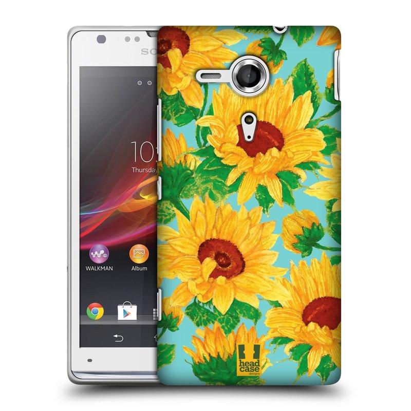 Plastové pouzdro na mobil Sony Xperia SP C5303 HEAD CASE Slunečnice (Kryt či obal na mobilní telefon Sony Xperia SP )