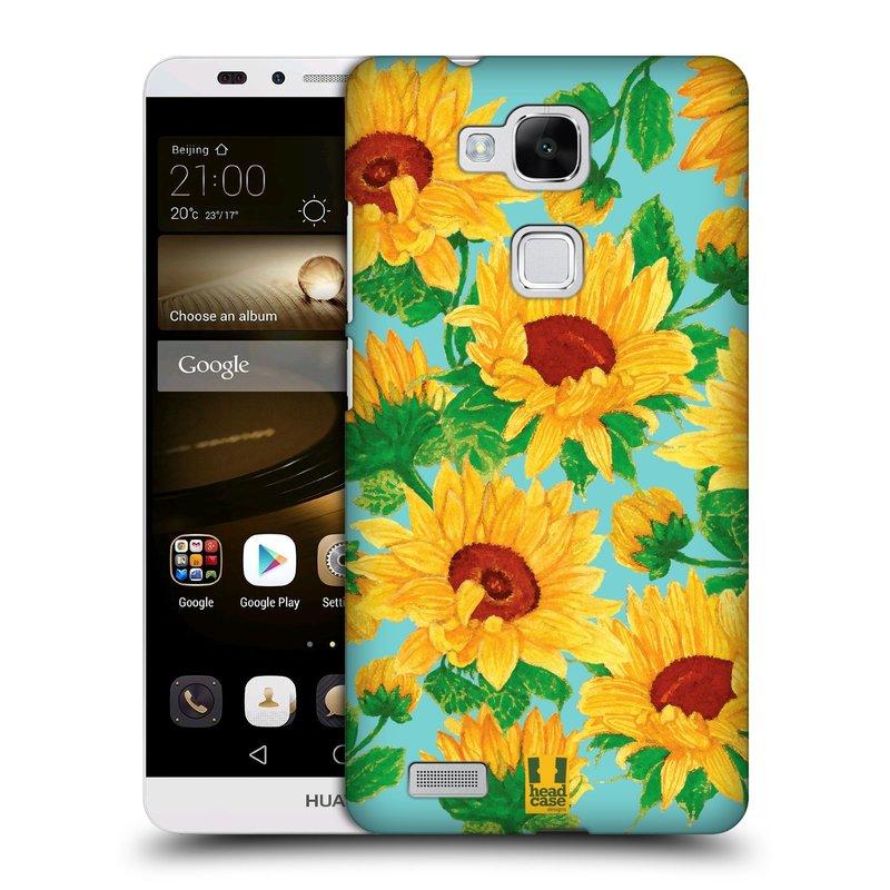 Plastové pouzdro na mobil Huawei Ascend Mate 7 HEAD CASE Slunečnice (Kryt či obal na mobilní telefon Huawei Ascend Mate7)