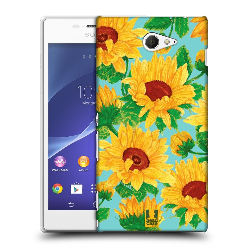 Plastové pouzdro na mobil Sony Xperia M2 D2303 HEAD CASE Slunečnice (Kryt či obal na mobilní telefon Sony Xperia M2 )