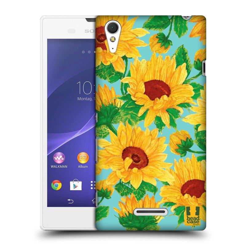 Plastové pouzdro na mobil Sony Xperia T3 D5103 HEAD CASE Slunečnice (Kryt či obal na mobilní telefon Sony Xperia T3 )