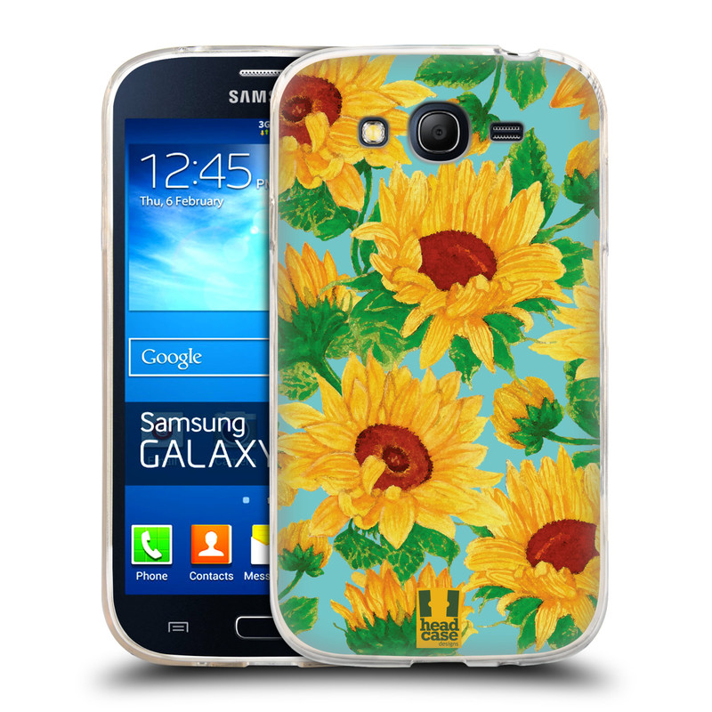 Silikonové pouzdro na mobil Samsung Galaxy Grand Neo Plus HEAD CASE Slunečnice (Silikonový kryt či obal na mobilní telefon Samsung Galaxy Grand Neo Plus Duos GT-I9060i)