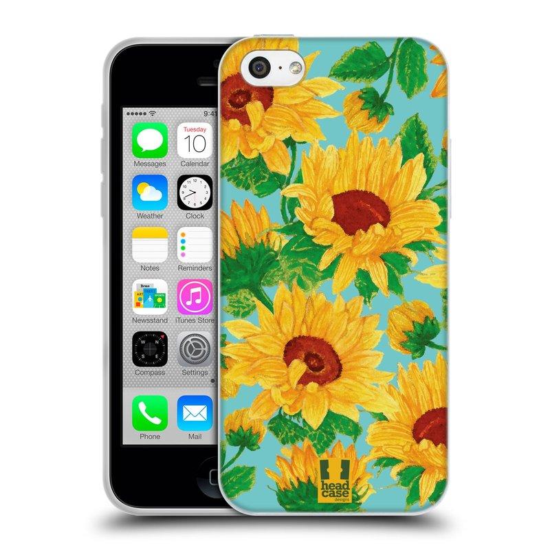 Silikonové pouzdro na mobil Apple iPhone 5C HEAD CASE Slunečnice (Silikonový kryt či obal na mobilní telefon Apple iPhone 5C)