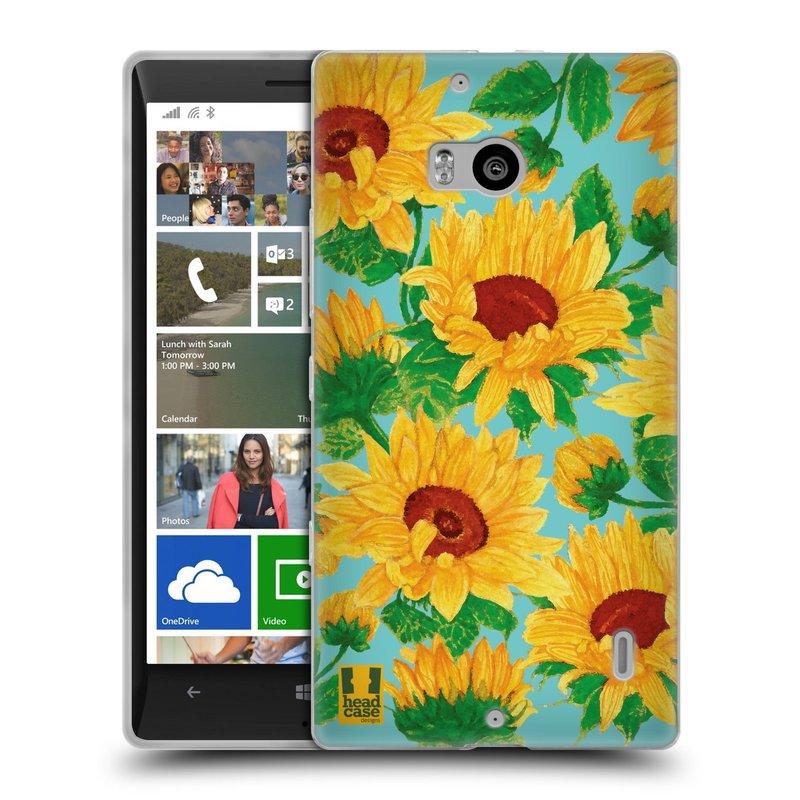 Silikonové pouzdro na mobil Nokia Lumia 930 HEAD CASE Slunečnice (Silikonový kryt či obal na mobilní telefon Nokia Lumia 930)