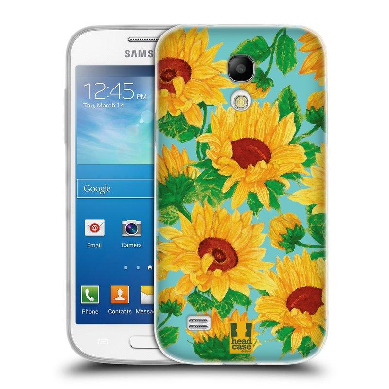 Silikonové pouzdro na mobil Samsung Galaxy S4 Mini VE HEAD CASE Slunečnice (Silikonový kryt či obal na mobilní telefon Samsung Galaxy S4 Mini VE GT-i9195i (nepasuje na verzi Black Edition))