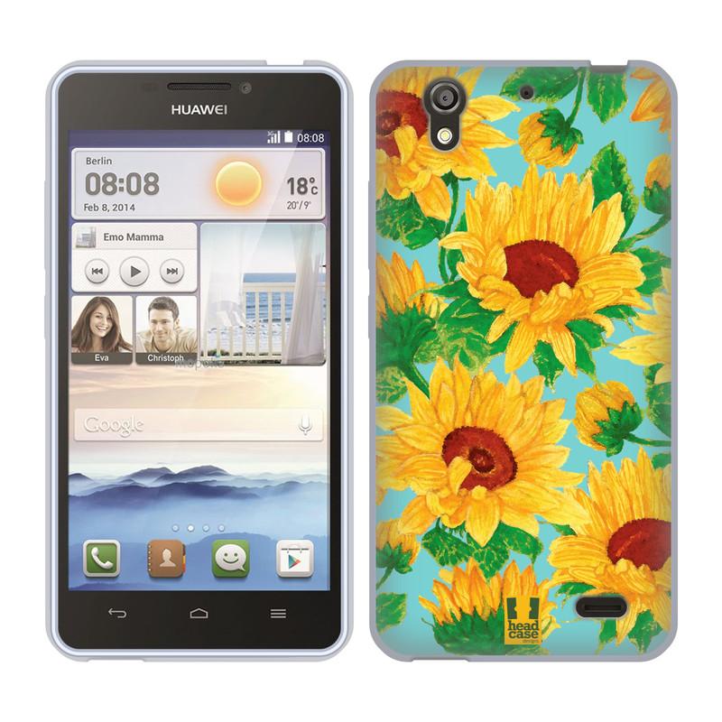 Silikonové pouzdro na mobil Huawei Ascend Y530 HEAD CASE Slunečnice (Silikonový kryt či obal na mobilní telefon Huawei Ascend Y530)
