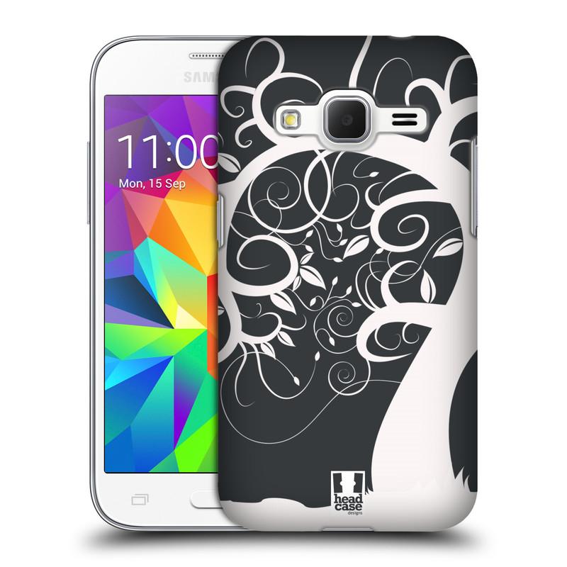 Plastové pouzdro na mobil Samsung Galaxy Core Prime LTE HEAD CASE SPLETITÝ STROM ŠEDÝ (Kryt či obal na mobilní telefon Samsung Galaxy Core Prime LTE SM-G360)
