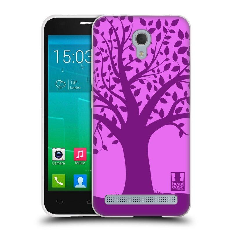 Silikonové pouzdro na mobil Alcatel One Touch Idol 2 Mini S 6036Y HEAD CASE SPLETITÝ STROM FIALOVÝ (Silikonový kryt či obal na mobilní telefon Alcatel Idol 2 Mini S OT-6036Y)