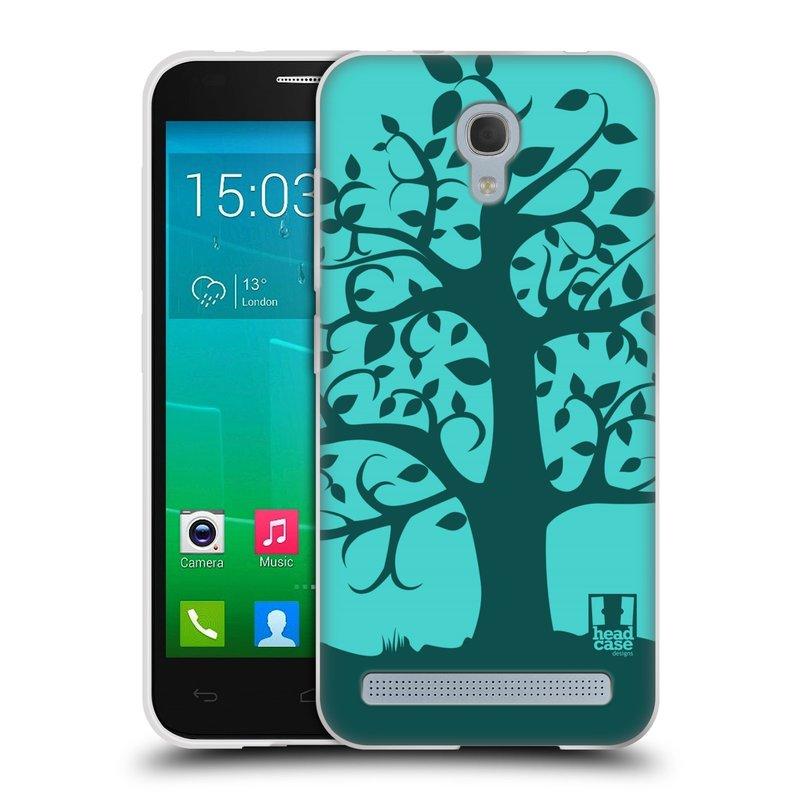 Silikonové pouzdro na mobil Alcatel One Touch Idol 2 Mini S 6036Y HEAD CASE SPLETITÝ STROM TYRKYSOVÝ (Silikonový kryt či obal na mobilní telefon Alcatel Idol 2 Mini S OT-6036Y)