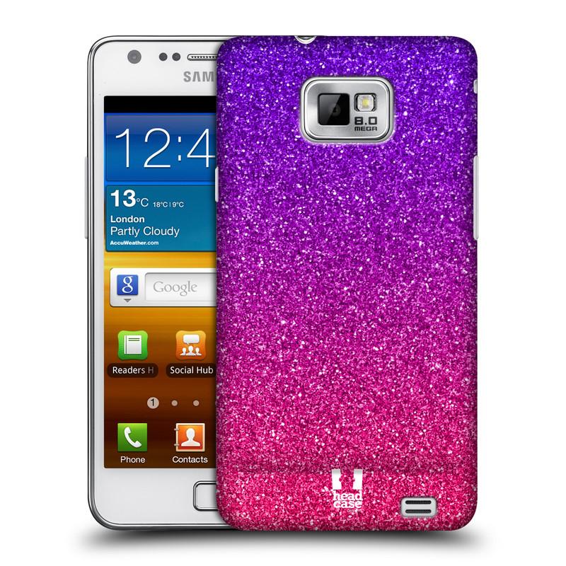Plastové pouzdro na mobil Samsung Galaxy S II HEAD CASE MIX PINK (Kryt či obal na mobilní telefon Samsung Galaxy S II GT-i9100)