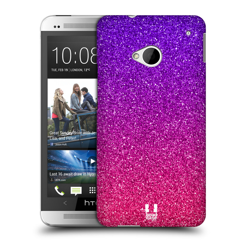 Plastové pouzdro na mobil HTC ONE M7 HEAD CASE MIX PINK (Kryt či obal na mobilní telefon HTC ONE M7)