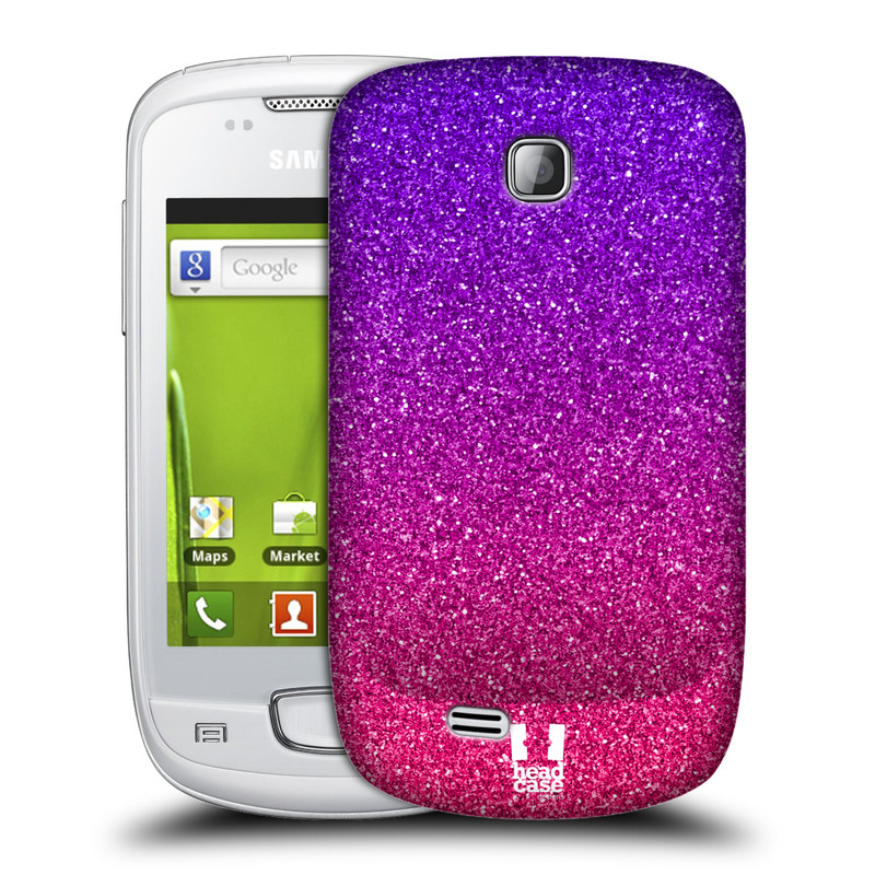 Plastové pouzdro na mobil Samsung Galaxy Mini HEAD CASE MIX PINK (Kryt či obal na mobilní telefon Samsung Galaxy Mini GT-S5570 / GT-S5570i)