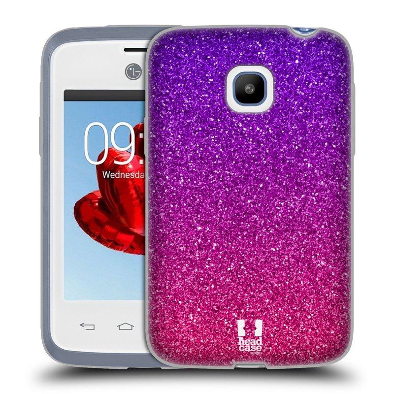 Silikonové pouzdro na mobil LG L20 HEAD CASE MIX PINK (Silikonový kryt či obal na mobilní telefon LG L20 D107)