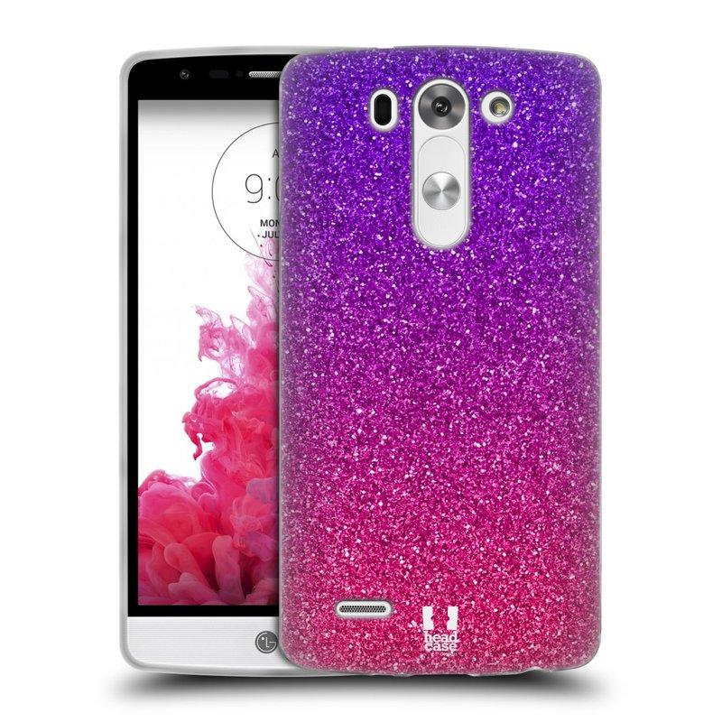 Silikonové pouzdro na mobil LG G3s HEAD CASE MIX PINK (Silikonový kryt či obal na mobilní telefon LG G3s D722)