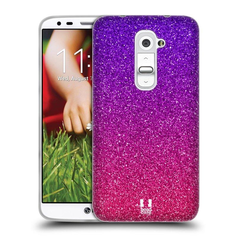 Silikonové pouzdro na mobil LG G2 HEAD CASE MIX PINK (Silikonový kryt či obal na mobilní telefon LG G2 D802)