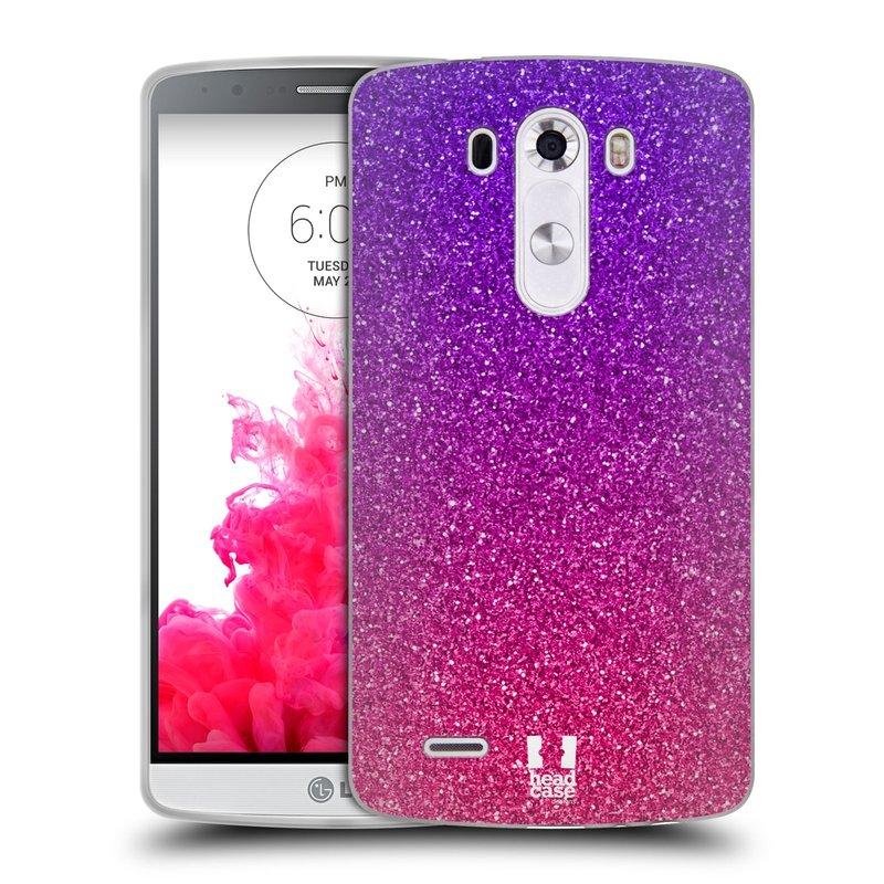 Silikonové pouzdro na mobil LG G3 HEAD CASE MIX PINK (Silikonový kryt či obal na mobilní telefon LG G3 D855)